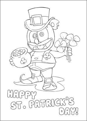 ST PATRICKS COLORING PAGE 300