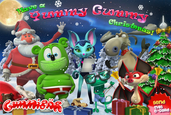 Yummy Gummy Christmas Ecard Still