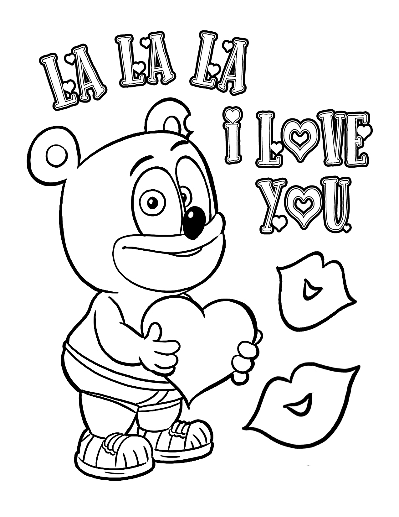 valentines coloring page 2013