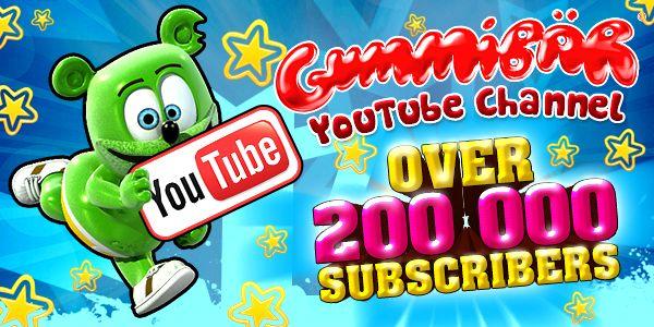 Gummibär 200,000 Subscriber Banner