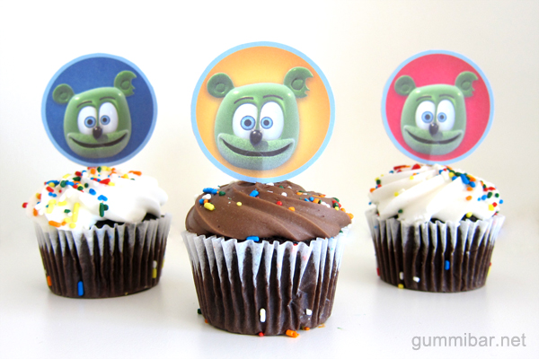 Gummibär Cupcake Toppers