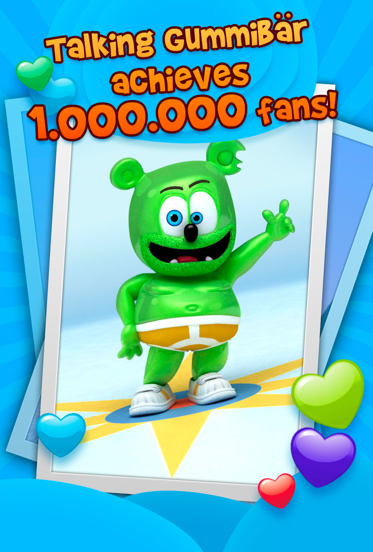 Talking Gummibär App One Million Downloads