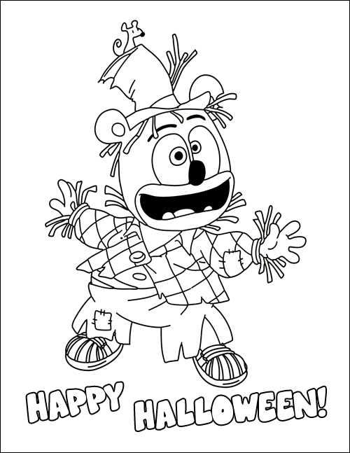 Gummib r halloween coloring page and plush toy giveaway for Gummi bears coloring pages