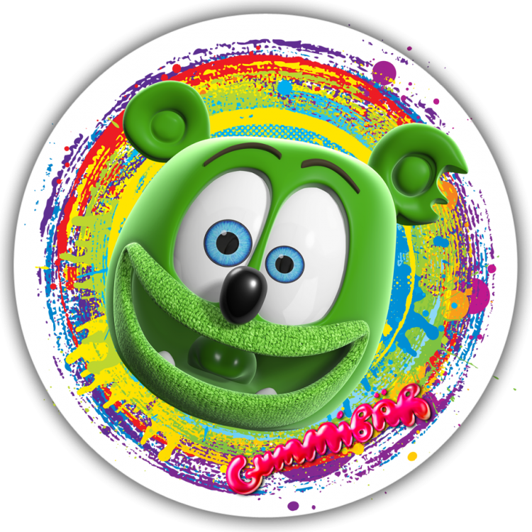 Gummibar Head Color Swirl Sticker