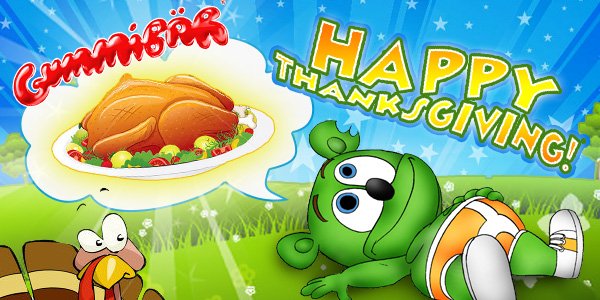 Gummibär Thanksgiving Banner