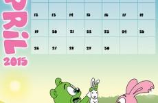 Gummibär Calendar April 2015