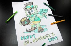 gummibar st patricks day coloring page