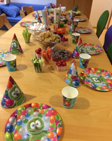 Owen's Birthday Party Table