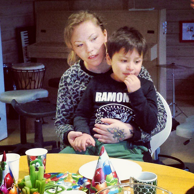 Picture of Greta and her son, Owen at his Birthday Party