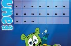 Gummibär Calendar Page June 2015