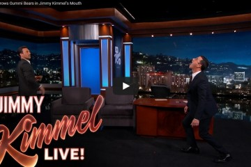 Jon Hamm's Gummy Tossing Game