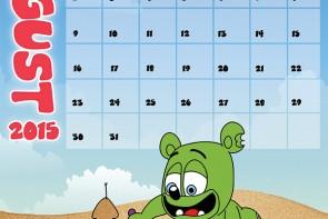 gummibär calendar page august 2015