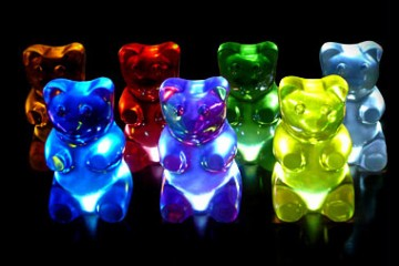 Gummy Bear Lights in the dark