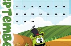 gummibar calendar september 2015