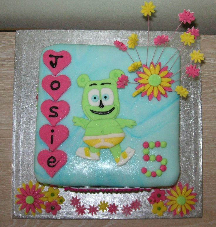 Flower Power Gummibr Gummy Bear Birthday Cake Gummibr