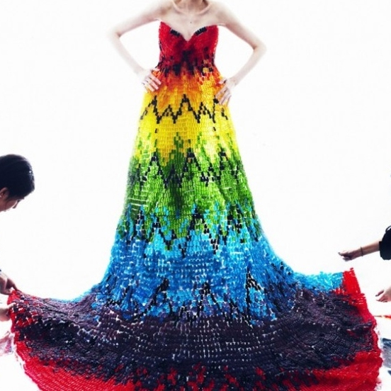 Dress made of gummy bears