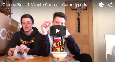 Comedypods Gummy Bear Eating Challenge Gummibar The Gummy Bear Song I'm a Gummy Bear