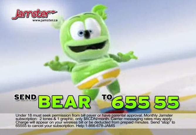 Gummy Bear Song Ringtone Jamster I'm a Gummy Bear Gummibar