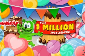 Gummibar YouTube Channel one million subscribers
