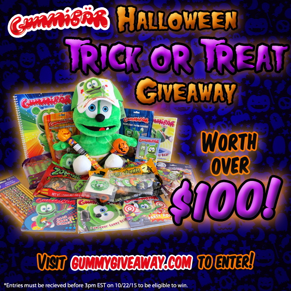 Gummibar Halloween Trick-or-Treat Giveaway The Gummy Bear Song I'm a Gummy Bear