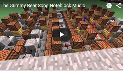 Minecraft The Gummy Bear Song Gummibar Note Blocks