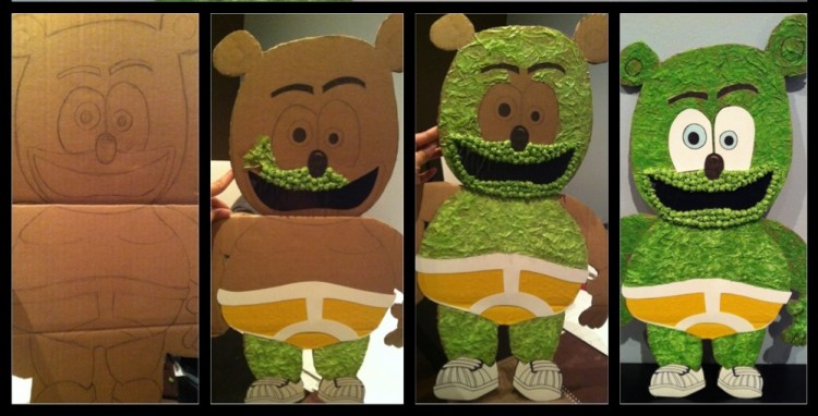 Cardboard Gummibar The Gummy Bear Song I'm a Gummy Bear Kids Birthday Party