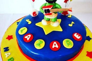 Gummibar The Gummy Bear Song I'm a Gummy Bear Kids Birthday Cake