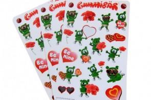 Gummibar Gummybear Stickers Valentines Day Cartoon Character