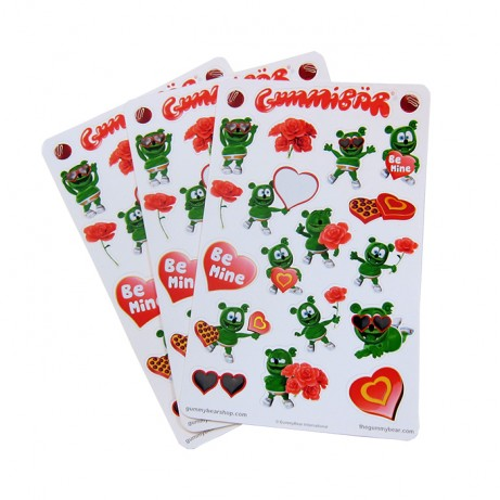 Gummibar Gummybear Stickers Valentines Day Cartoon Character