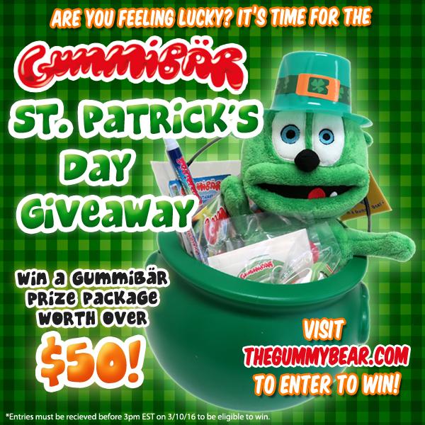 Gummybear St. Patricks Day Giveaway Gummibar Gummy Bear Song