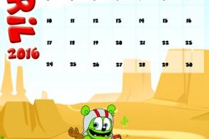 gummibar calendar april 2k16