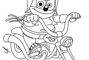 gummibar coloring page april 2k16