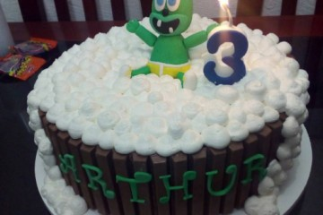 cake birthday kids childrens cartoon character gummybear gummibar bubble up