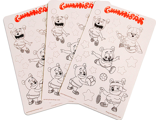 sports kids childrens stickers gummybear gummibar gummy bear song coloring