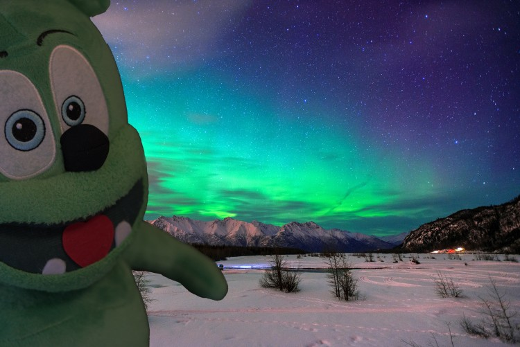 gummibar gummybear gummy bear song gummybearintl youtube youtuber alaska aurora borealis