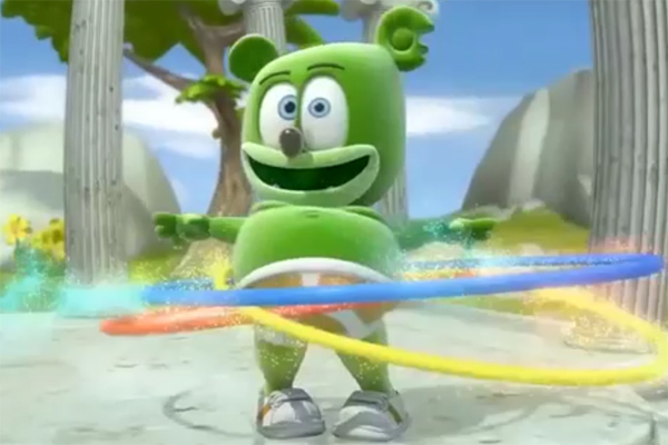 gummybear gummy bear song gummibar hula hooping