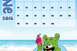 gummibar calendar june 2k16