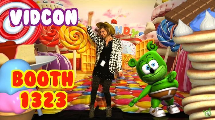 vidcon youtube youtuber convention gummybear gummy bear gummibar gummy bear song interactive live experience gummybear international gummybearintl