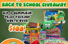back to school giveaway free stuff sweepstakes kids childrens school supplies gummy bear gummibar im a gummy bear