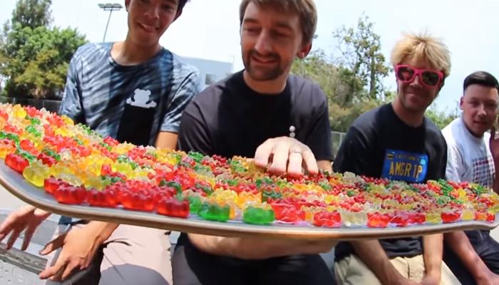 gummy bears gummy bear candy skateboarding grip tape gummibar gummybear gummy bear song youtube youtuber