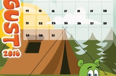 gummibar calendar august 2k16