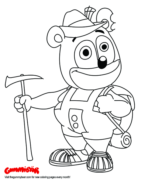 gummibar coloring page august 2k16