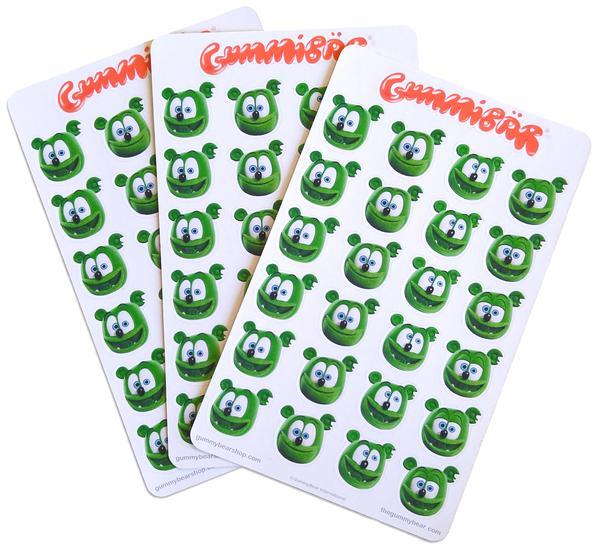 stickers planner notebook back to school merchandise gummy bear gummibar gummy bear song show original cartoon series