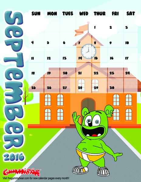 gummibar calendar september 2k16