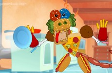 junk food monster scary funny gummy bear gummybear gummibar youtube youtuber original web series cartoon