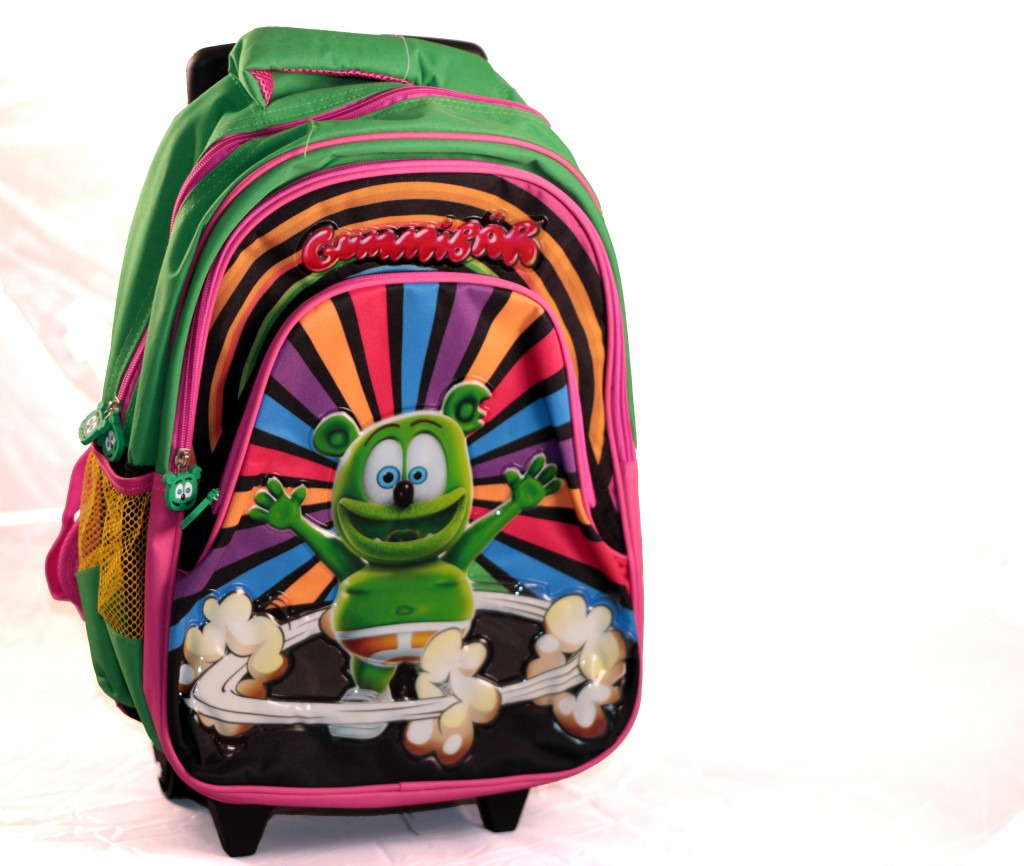 gummibar rolling backpack kids school supplies back to school sales deals shopping gummy bear song gummybear