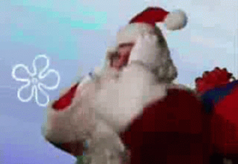 funny wacky hilarious gif giphy santa claus christmas holidays 2016 gummibar gummy bear song
