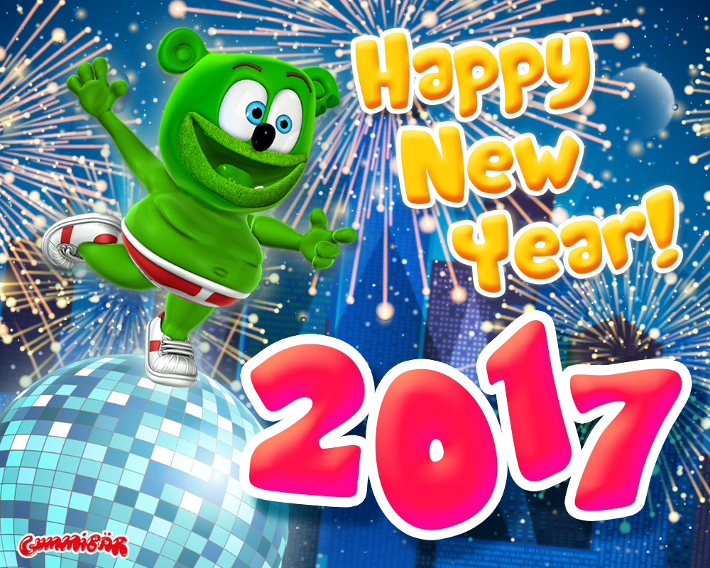 happy new year 2016 2017 gummy bear song gummibar gummybear gummybearintl youtube youtuber creator original animated cartoon web series gummy bear show