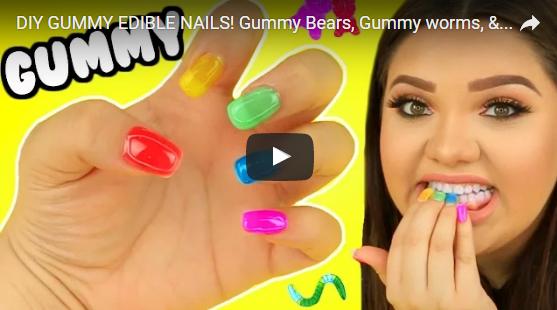 gummy nails youtube youtuber gummibar gummybear im i am a gummy bear song