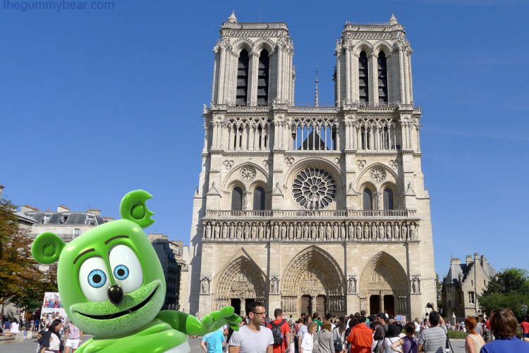 notre dame cathedral paris france around the world travel blog im a gummy bear i am a gummy bear gummibar gummybearintl youtube youtuber